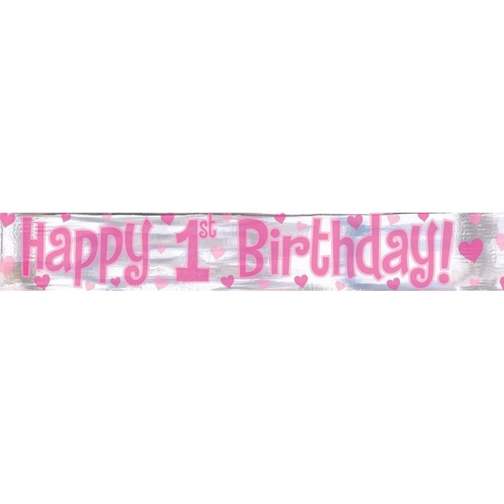 home decorations themes happy 1st birthday banner
