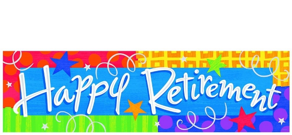 Happy Retirement Banner Perth, WA | Balloons Abuzz